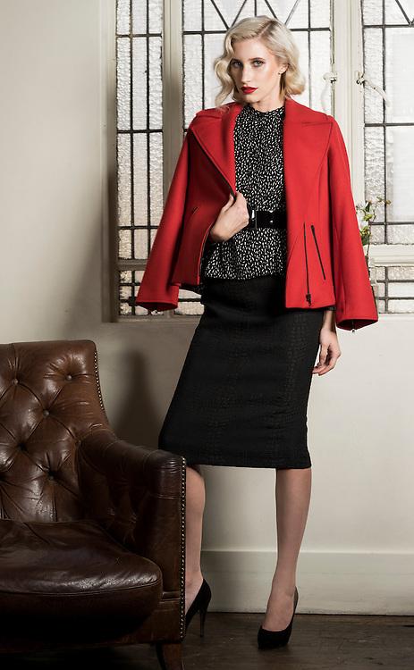 Sunday, Fashion with Mirella, Black Skirt Five ways. Megan Ryan from Prides Models , at the Richmond Hotel Adelaide. Photo: Nick Clayton