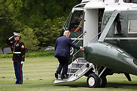 United States President Donald J. Trump walks to board Marine One on the South Lawn of the White House in Washington, DC before his departure to Detroit, Michigan on May 21, 2020. Trump is going to participate in a listening session with African-American leaders and tour Ford Rawsonville Components Plant in Ypsilanti, Michigan. <br /> Credit: Yuri Gripas / Pool via CNP/AdMedia