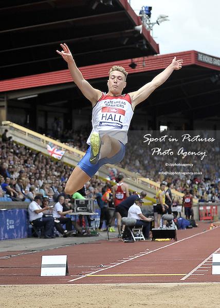 Scott Hall (Gateshead). Mens long jump. British Athletics Championships. Alexander Stadium. Birmingham. UK. 26/06/2016. ~ MANDATORY CREDIT Garry Bowden/SIPPA - NO UNAUTHORISED USE - +447837 394578