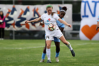 Piscataway, NJ - Sunday April 30, 2017: Maegen Kelly and Mandy Freeman during a regular season National Women's Soccer League (NWSL) match between Sky Blue FC and FC Kansas City at Yurcak Field.