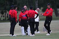 Hornchurch claim the fourth Buckhurst Hill wicket during Hornchurch CC vs Buckhurst Hill CC (batting), Essex Cricket League Cricket at Harrow Lodge Park on 25th July 2020