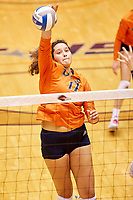 SAN ANTONIO, TX - OCTOBER 12, 2018: The University of Texas at San Antonio Roadrunners defeat the Florida International University Panthers 3-2 (23-25, 25-15, 25-22, 22-25, 15-9) at the UTSA Convocation Center. (Photo by Jeff Huehn)