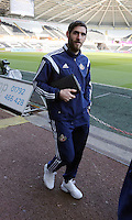 SWANSEA, WALES - FEBRUARY 07: Danny Graham of Sunderland arrives prior the Premier League match between Swansea City and Sunderland AFC at Liberty Stadium on February 7, 2015 in Swansea, Wales.
