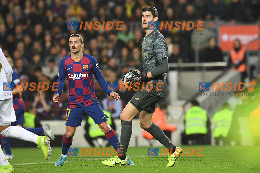 Thibaut Courtois<br /> <br /> <br /> 18/12/2019 <br /> Barcelona - Real Madrid<br /> Calcio La Liga 2019/2020 <br /> Photo Paco Largo Panoramic/insidefoto <br /> ITALY ONLY