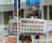 14h April 2018, Aintree Racecourse, Liverpool, England; The 2018 Grand National horse racing festival sponsored by Randox Health, day 3; Racing information on sale
