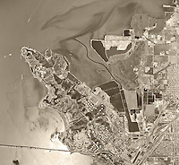 historical aerial photo map of Richmond, CA, 1968