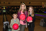 Guiding Light's Sonia Satra poses with her son Ty and daughter Kaya -  13th Annual Daytime Stars and Strikes Bowling for Autism on April 23, 2016 at Bowler City Lanes in Hackensack, NJ. (Photo by Sue Coflin/Max Photos)