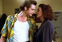 Ace Ventura: Pet Detective (1994) <br /> Jim Carrey &amp; Sean Young<br /> *Filmstill - Editorial Use Only*<br /> CAP/KFS<br /> Image supplied by Capital Pictures