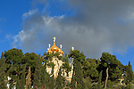 Israel, Jerusalem, the Russian Orthodox Church of Mary Magdalene on the Mount of Olives
