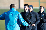 St Johnstone Training&hellip;28.12.18    McDiarmid Park<br />Scott Tanser listens to manager Tommy Wright for instructions in a sprint race ahead of tomorrow&rsquo;s game at Dundee.<br />Picture by Graeme Hart.<br />Copyright Perthshire Picture Agency<br />Tel: 01738 623350  Mobile: 07990 594431
