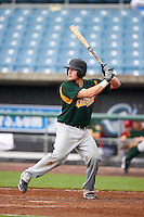 Tanner Norton #14 of Bishop Brossart High School in Morning View, Kentucky playing for the Oakland Athletics scout team during the East Coast Pro Showcase at Alliance Bank Stadium on August 1, 2012 in Syracuse, New York.  (Mike Janes/Four Seam Images)