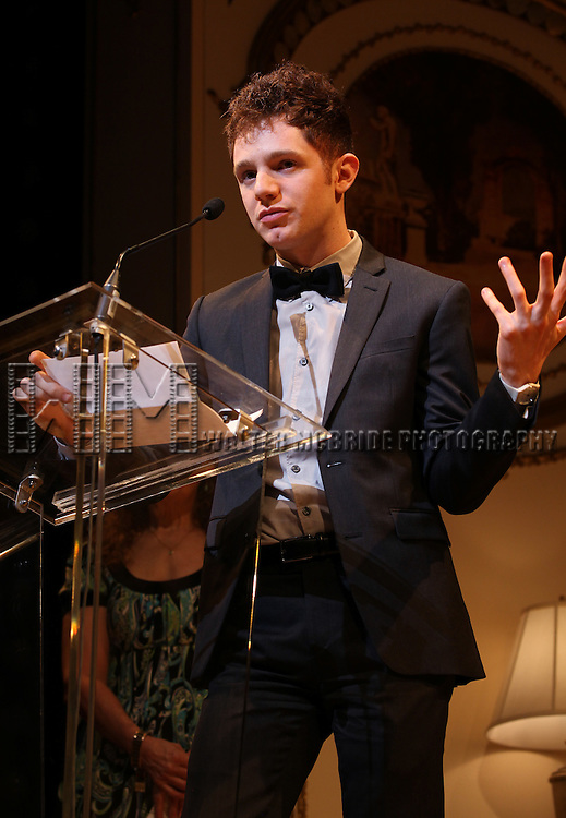 Chris Perfetti.during the 68th Annual Theatre World Awards at the Belasco Theatre  in New York City on June 5, 2012.
