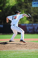 Rutgers University Scarlet Knights pitcher Rob Smorol (15) during game against the University of Connecticut Huskies at Bainton Field on May 3, 2013 in Piscataway, New Jersey. Connecticut defeated Rutgers 3-1.      . (Tomasso DeRosa/ Four Seam Images)