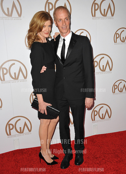 Rene Russo &amp; husband Dan Gilroy at the 26th Annual Producers Guild Awards at the Hyatt Regency Century Plaza Hotel.<br /> January 24, 2015  Los Angeles, CA<br /> Picture: Paul Smith / Featureflash