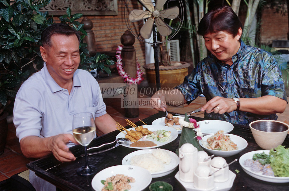 Thaïlande/Bangkok: Réception chez Mr Sun antiquaire Import/Export