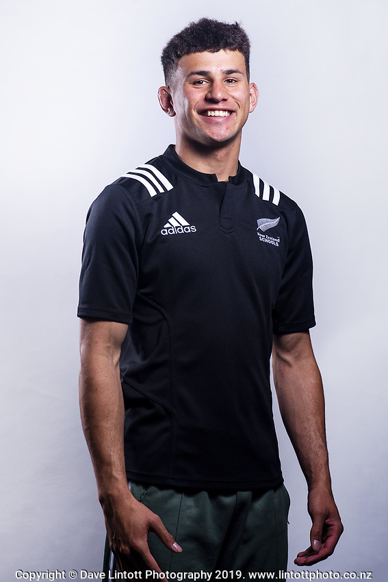 Jacob Kneepkens (Francis Douglas Memorial College). 2019 New Zealand Schools rugby union headshots at the Sport & Rugby Institute in Palmerston North, New Zealand on Wednesday, 25 September 2019. Photo: Dave Lintott / lintottphoto.co.nz