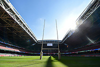 A general view of the Millennium Stadium with the roof open. Rugby World Cup Pool A match between Wales and Fiji on October 1, 2015 at the Millennium Stadium in Cardiff, Wales. Photo by: Patrick Khachfe / Onside Images
