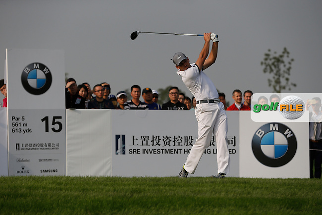 Sergio Garcia (ESP) on the 15th during the final round of the BMW Masters, Lake Malarian Golf Club, Boshan, Shanghai, China.  15/11/2015.<br /> Picture: Golffile | Fran Caffrey<br /> <br /> <br /> All photo usage must carry mandatory copyright credit (&copy; Golffile | Fran Caffrey
