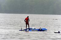 Richard Shaw, Y-22, I.5 Litre Mod class hydroplane, takes a bad hop and stuffs..Syracuse Hydrofest, Onondaga Lake, Syracuse, NY.20/21 June, 2009, Dayton, OH USA..©F. Peirce Williams 2009 USA.F.Peirce Williams.photography.ref: RAW (.NEF) File Available