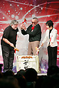 (L to R) Apple co-founder Steve Wozniak and comic book writer Stan Lee, hit the top led of the sake barrel for good luck during the opening ceremony for the Tokyo Comic Con 2017 at Makuhari Messe International Exhibition Hall on December 1, 2017, Tokyo, Japan. This is the second year that San Diego Comic-Con International held the event in Japan. Tokyo Comic Con runs from December 1 to 3. (Photo by Rodrigo Reyes Marin/AFLO)