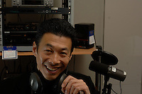 Labor Rights Activist and Radio Free Asia talk show host Han Dong Fan during an interview in Hong Kong with El Mundo asia correspondant David Jimenez.