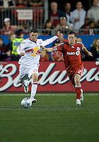 13 June2009:New York Red Bulls midfielder Nick Zimmerman #22 and Toronto FC midfielder Sam Cronin #2  in action during MLS action at BMO Field in Toronto, in a game between the New York Red Bulls and Toronto FC. Toronto FC won 2-1..