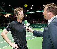 Februari 12, 2015, Netherlands, Rotterdam, Ahoy, ABN AMRO World Tennis Tournament, Andy Murray (GBR)<br /> Photo: Tennisimages/Henk Koster