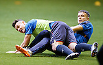 Andy Halliday tackles Fraser Aird