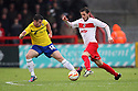 Steven Jennings of Coventry tackles Robin Shroot of Stevenage. Stevenage v Coventry City - npower League 1 - Lamex Stadium, Stevenage - 26th December, 2012. © Kevin Coleman 2012......