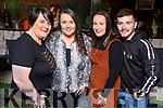 Jacinta Rohan, Fiona O'Halloran, Alana and Alex Rohan attending the 'Bands For Bubbles' in aid of Siobhain Maher Sequeval in Benners Hotel on Friday.