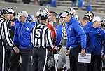 November 12, 2016 - Colorado Springs, Colorado, U.S. -  Air Force head coach, Troy Calhoun (left), and the Falcon coaching staff react to a call during the NCAA Football game between the Colorado State University Rams and the Air Force Academy Falcons, Falcon Stadium, U.S. Air Force Academy, Colorado Springs, Colorado.  Air Force defeats Colorado State 49-46.