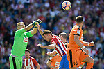 Atletico de Madrid's Nico Gaitán and SD Eibar's Yoel Rodriguez during Liga Liga match between Atletico de Madrid and SD Eibar at Vicente Calderon Stadium in Madrid, May 06, 2017. Spain.<br /> (ALTERPHOTOS/BorjaB.Hojas)