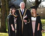 REPRO FREE<br /> 21/01/2015<br /> Cathy Moynihan, Ennis, Co. Clare and Aine Campbell, Athlone who graduated with Masters in Arts and Psychology as the University of Limerick continues three days of Winter conferring ceremonies which will see 1831 students conferring, including 74 PhDs. <br /> Pictured here with Michael Houlihan, UL.<br /> UL President, Professor Don Barry highlighted the increasing growth in demand for UL graduates by employers and the institution&rsquo;s position as Sunday Times University of the Year. <br /> Picture: Don Moloney / Press 22