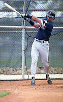 Boston Red Sox Phil Plantier during spring training circa 1992 at Chain of Lakes Park in Winter Haven, Florida.  (MJA/Four Seam Images)