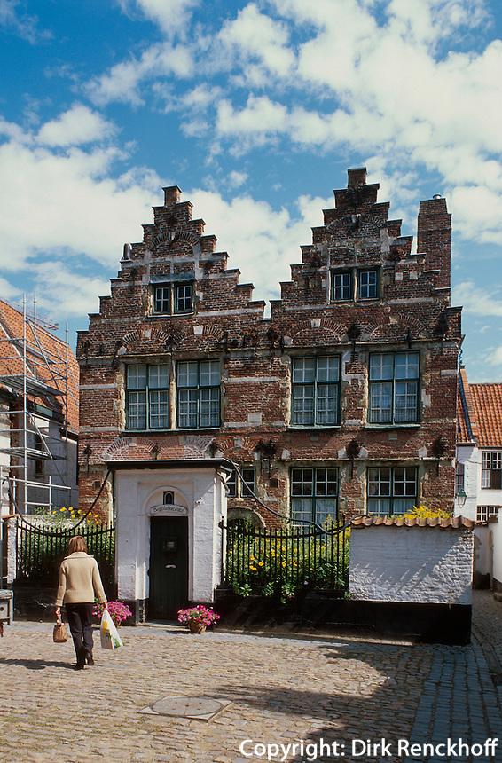 Belgien, Flandern, Beginenhof in Kortrijk, Unesco-Weltkulturerbe