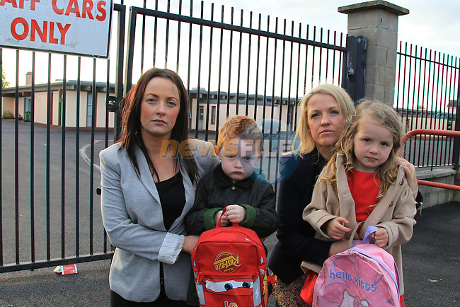 LouiseRyan, Cillian Ryan , Michelle Cuniskey and Indy Cumiskey outside St Declans National School in Ashbourne Co Meath..Picture Fran Caffrey www.newsfile.ie..