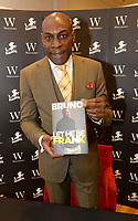 Frank Bruno, Former Heavyweight Boxer, takes part in a booksigning of his autobiography 'Let Me Be Frank',  at Watersones. bookshop, Bluewater Shopping Centre. Greenhithe, Kent, England on November 4th 2017<br /> CAP/DH<br /> &copy;DH/Capital Pictures