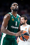 Panathinaikos Chris Singleton during Turkish Airlines Euroleague Quarter Finals 3rd match between Real Madrid and Panathinaikos at Wizink Center in Madrid, Spain. April 25, 2018. (ALTERPHOTOS/Borja B.Hojas)