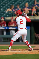 Andy Cosgrove (2) of the North Carolina State Wolfpack at bat against the Boston College Eagles in Game Two of the 2017 ACC Baseball Championship at Louisville Slugger Field on May 23, 2017 in Louisville, Kentucky. The Wolfpack defeated the Eagles 6-1. (Brian Westerholt/Four Seam Images)