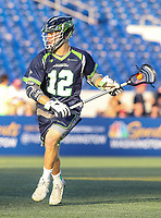 Annapolis, MD - July 7, 2018: Chesapeake Bayhawks Ryan Tucker (12) in action during the game between New York Lizards and Chesapeake Bayhawks at Navy-Marine Corps Memorial Stadium in Annapolis, MD.   (Photo by Elliott Brown/Media Images International)