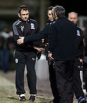 Pat Fenlon looking glum after his Hibs team fail to take any points after scoring three away goals