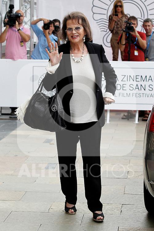 Claudia Cardinale arrives to Maria Cristina Hotel for the 60th San Sebastian Donostia International Film Festival - Zinemaldia.September 23,2012.(ALTERPHOTOS/ALFAQUI/Acero)