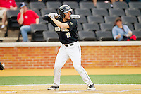Mark Rhine (2) of the Wake Forest Demon Deacons at bat against the North Carolina State Wolfpack at Wake Forest Baseball Park on March 16, 2013 in Winston-Salem, North Carolina.  The Demon Deacons defeated the Wolfpack 13-4.  (Brian Westerholt/Four Seam Images)