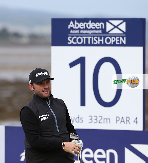 Andy Sullivan (ENG) during the First Round of the 2016 Aberdeen Asset Management Scottish Open, played at Castle Stuart Golf Club, Inverness, Scotland. 07/07/2016. Picture: David Lloyd | Golffile.<br /> <br /> All photos usage must carry mandatory copyright credit (&copy; Golffile | David Lloyd)