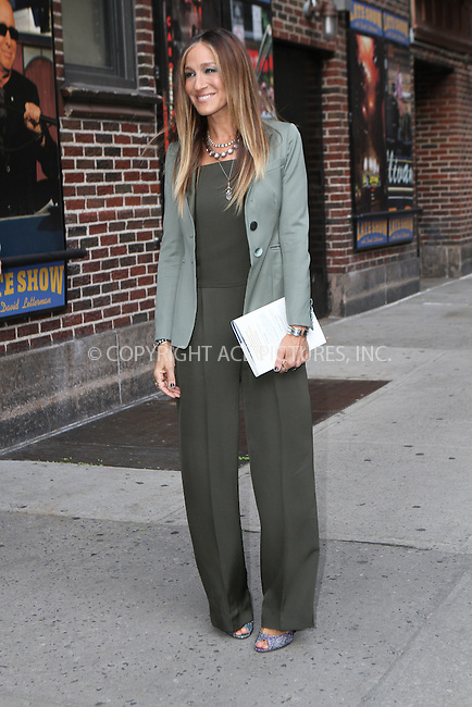 WWW.ACEPIXS.COM<br /> <br /> April 13 2015, New York City<br /> <br /> Actress Sarah Jessica Parker leaves 'The Late Show with David Letterman' on April 13 2015 in New York City<br /> <br /> By Line: Nancy Rivera/ACE Pictures<br /> <br /> <br /> ACE Pictures, Inc.<br /> tel: 646 769 0430<br /> Email: info@acepixs.com<br /> www.acepixs.com