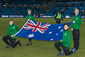 23rd March 2018, Ullevaal Stadion, Oslo, Norway; International Football Friendly, Norway versus Australia; Australian flag displayed pitchside