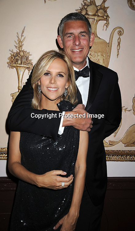 "Tory Burch and Lyor Cohen.at The QVC ""FFANY Shoes on Sale""Gala to benefit breast cancer research on October 15, 2008 at The Waldorf Astoria Hotel in New York City. ..Robin Platzer, Twin Images"