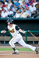 Lee Mitchell of the  Jacksonville Suns during a game vs. the Tennessee Smokies July 10 2010 at Baseball Grounds of Jacksonville in Jacksonville, Florida. Photo By Scott Jontes/Four Seam Images