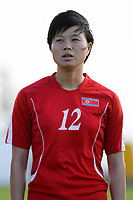 20190227 - LARNACA , CYPRUS : North Korean midfielder Kim Yun-mi pictured during a women's soccer game between Korea DPR and Czech Republic , on Wednesday 27 February 2019 at the GSZ Stadium in Larnaca , Cyprus . This is the first game in group A for both teams during the Cyprus Womens Cup 2019 , a prestigious women soccer tournament as a preparation on the Uefa Women's Euro 2021 qualification duels and the Fifa World Cup France 2019. PHOTO SPORTPIX.BE | STIJN AUDOOREN