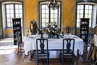Sweden, Ekerö. The Drottningholm Palace (Drottningholms slott). Interior of the Chinese Pavilion.